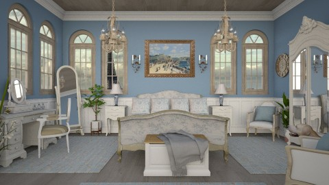 Design 272 French Blue Bedroom - Bedroom - by Daisy320