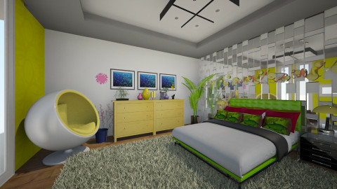 Neon - Bedroom - by Gabriella Reeves
