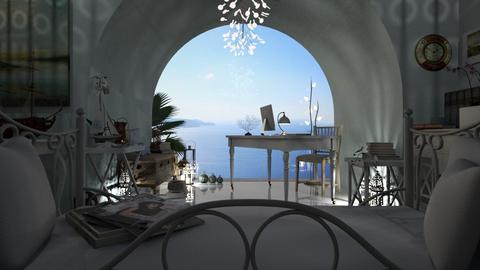 Santorini Dream Workplace - Office - by LuzMa HL