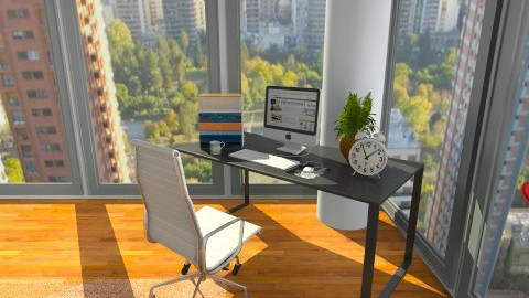 Desk with view  - Office - by Facundo Hernandez