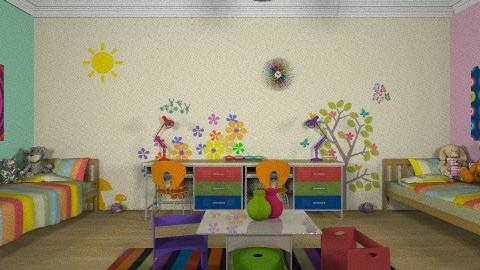 color splash - Kids room - by dimitrafounda