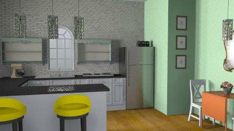 sweet and simple kitchen - Vintage - Kitchen - by crystal aston