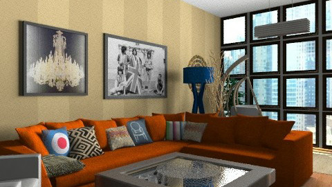 pop modern - Retro - Living room - by mide93