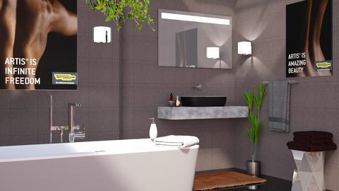 M_F - Bathroom - by milyca8