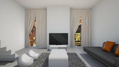 Whiteworld1 - Living room - by saraa_kocsis