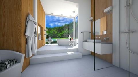 Bath with view - Bathroom - by Tuija