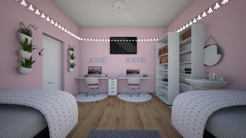 Josie and Katie dorm - Glamour - Bedroom - by Kayegan123456789