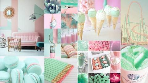 Mint and Pink - by Anvitha