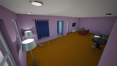Orange Carpet - Living room - by Troy99