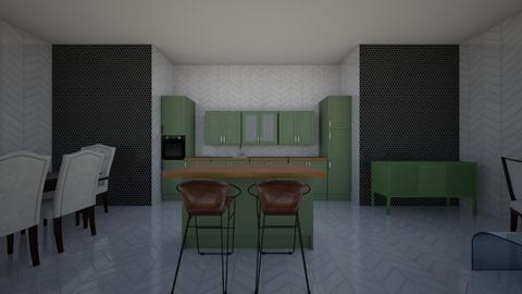 green kitchen - Country - Kitchen - by zaryah