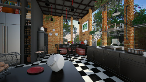 Black Kitchen - Eclectic - Kitchen - by evahassing