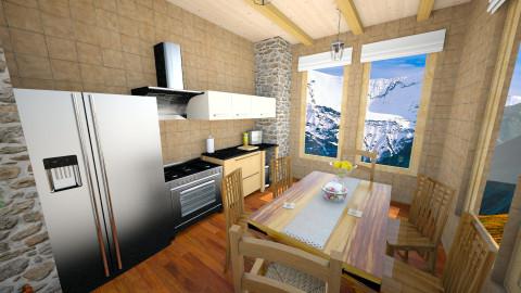Log Cabin Kitchen - Rustic - Kitchen - by mclaraop