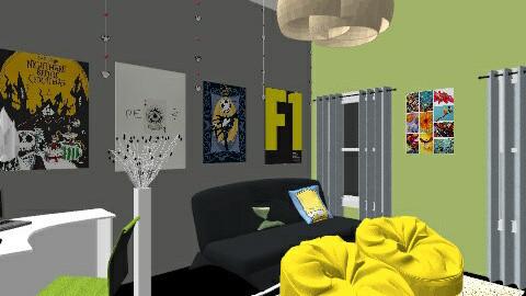Lounge Option 2 - Retro - Kids room - by tamaragideon