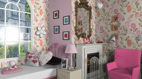 Heart - Glamour - Bedroom - by milyca8