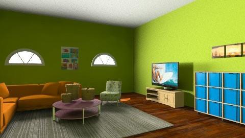 basement - Living room - by adiaa