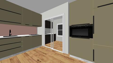 green kitchen - Kitchen - by Angela Louro