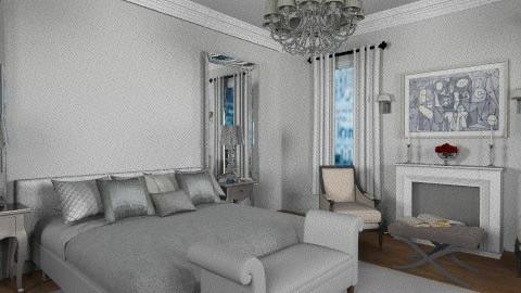 silver bedroom - Bedroom - by rosiedoll
