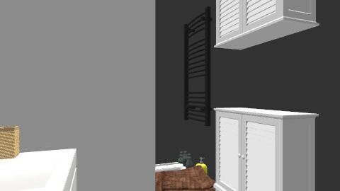 salle de bain/ plan 3 - Retro - Bathroom - by Yellow1806