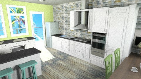 Green Beach Kitchen - Classic - Kitchen - by BriaFaith