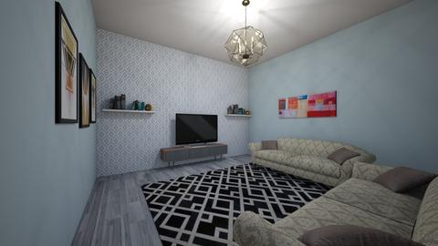 Geometric Living Room - Living room - by Evrol556