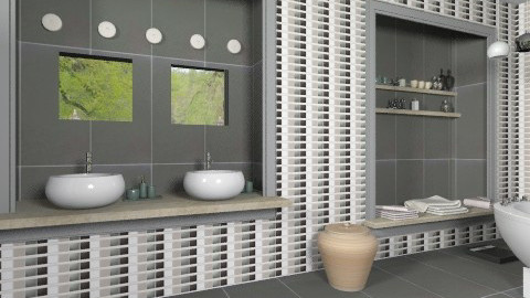bathroomgrey - Modern - Bathroom - by macus