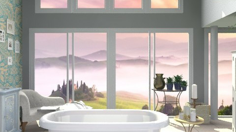Bath with a View - Country - Bathroom - by hunny