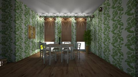 greenish - Dining room - by hillygabe