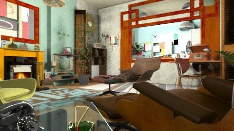 50 50 - Retro - Living room - by katmills98