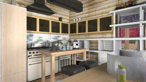 Log cabin kitchen - Rustic - Kitchen - by mrschicken