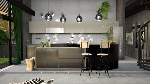 urban jungle kitchen - Kitchen - by elyssaumber
