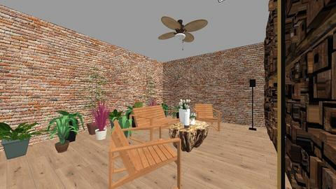 jungle living room - Country - Living room - by zary
