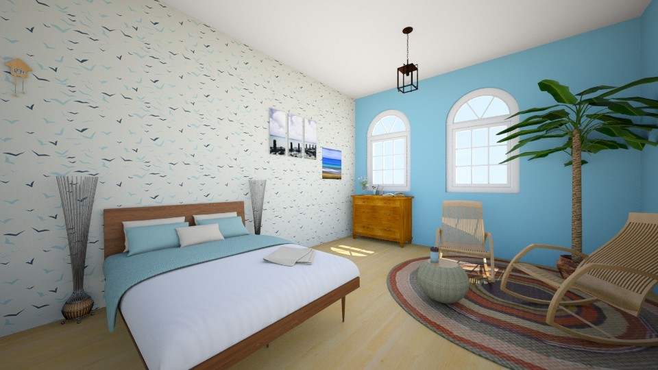 Ocean breeze - Bedroom - by Sherry Li