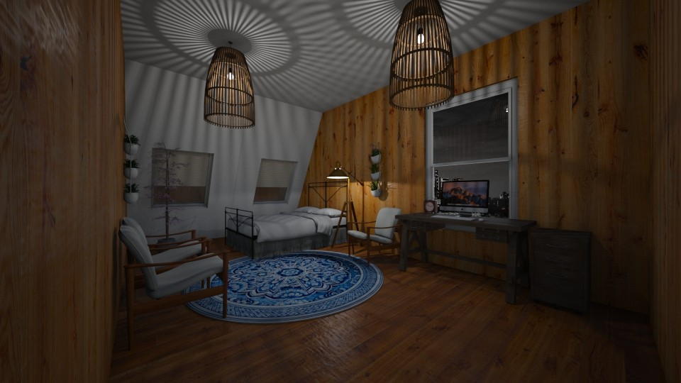 Attic Office Room  - by hellohello88