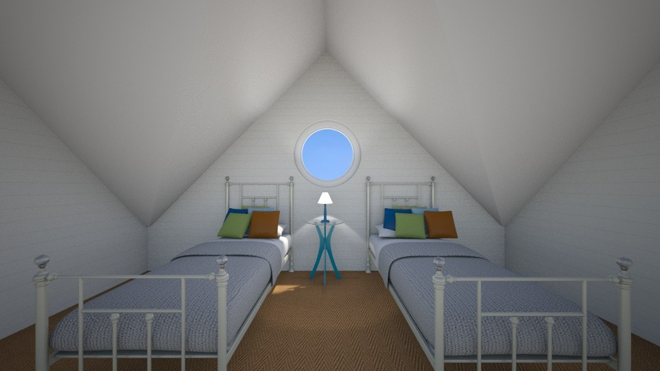 Hamptons Twin Bedroom - by bellm