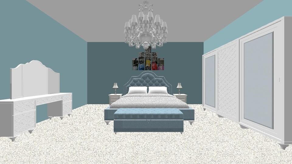 light blue - Bedroom - by angelknife