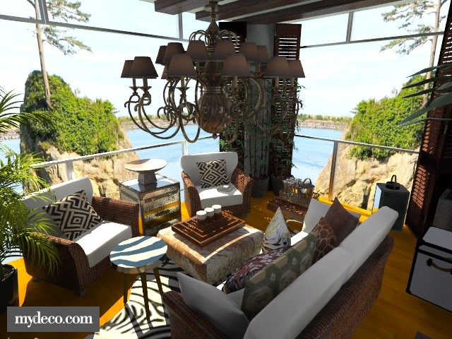 Zambezi - View 1 - Chandelier 2 - Garden - by Fofinha