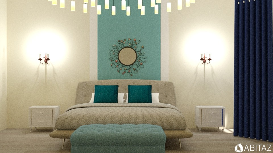 Blue bedroom - by DMLights-user-2134665