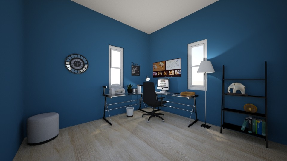 Serene Home Office - Office - by baileyy_b4