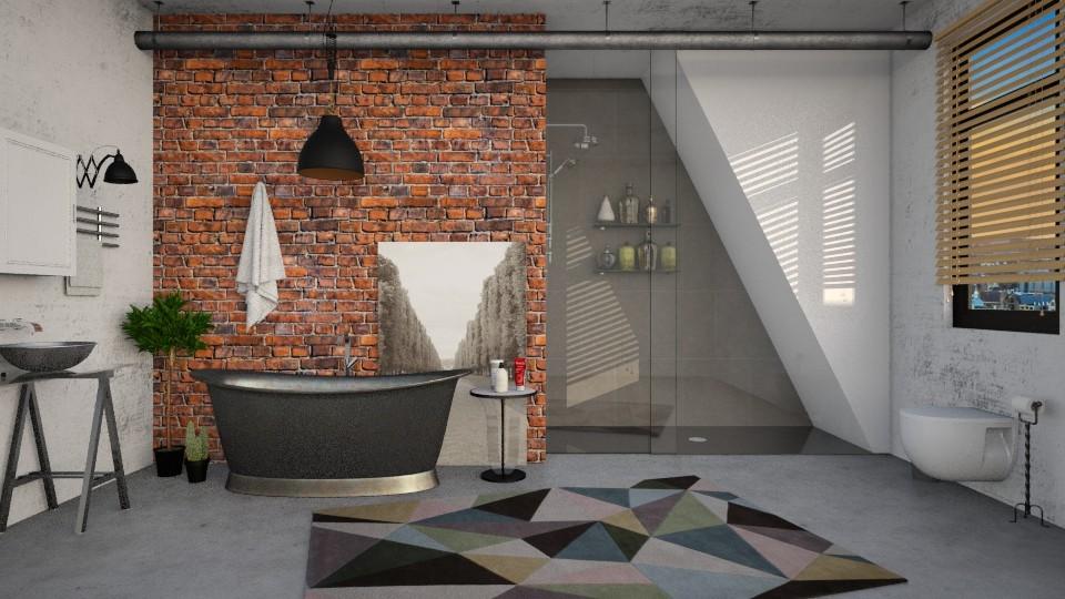 Industrial Bathroom - Bathroom - by DeborahArmelin