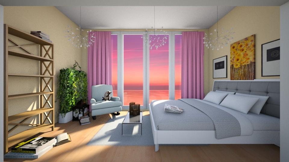 sunset - Bedroom - by sil_vik