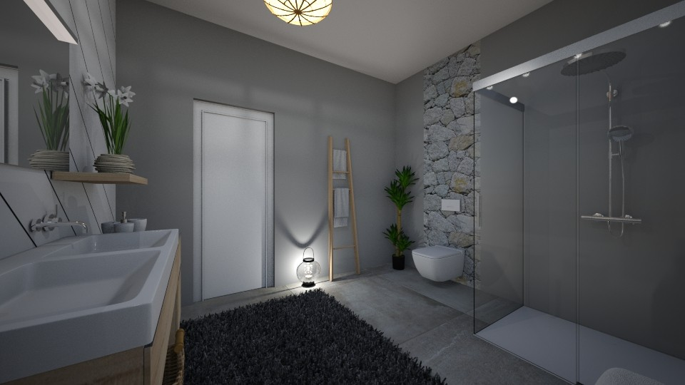 small apartment bathroom - Bathroom - by erladisgudmunds