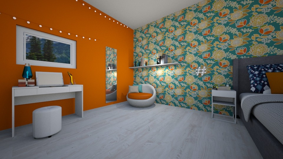retro bedroom - Retro - Bedroom - by love room