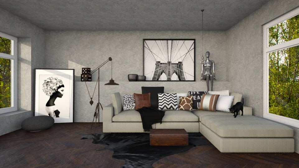 Low Ceiling - Living room - by Naavarin