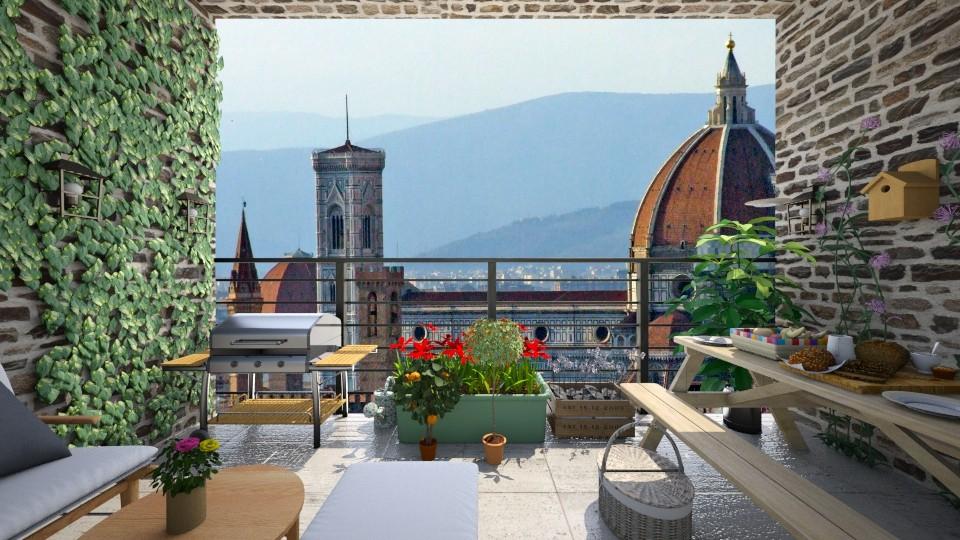 Florence Balcony - Garden - by moosierawwr