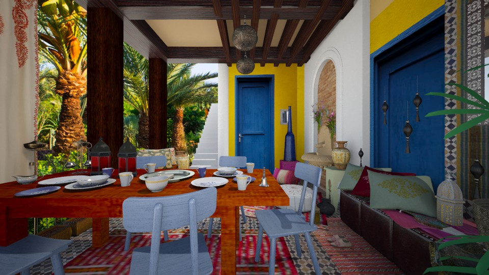 Moroccan Patio - by Mum Dali