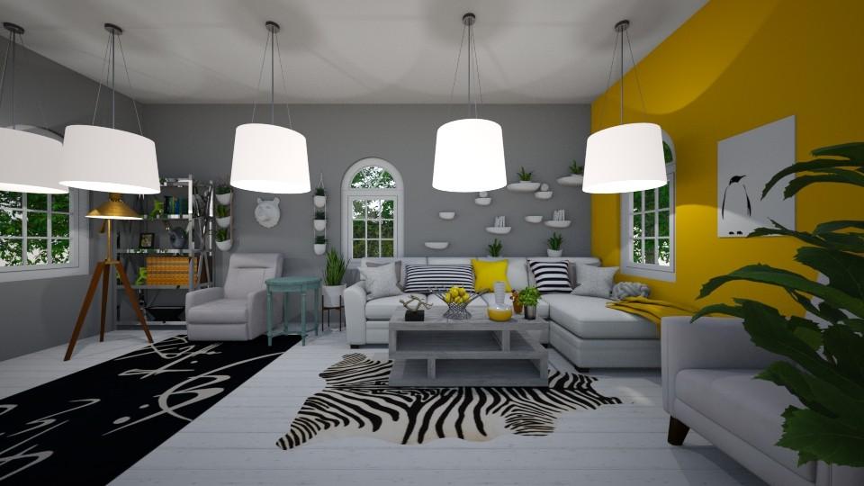 Zizzy Modern - Living room - by iampebbles