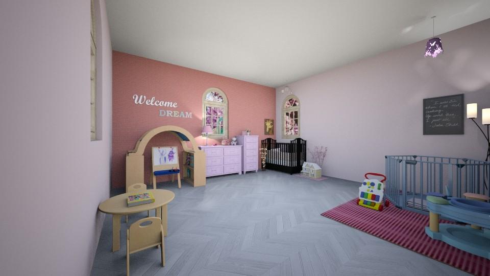 Pink nursery - by Josiemay1234