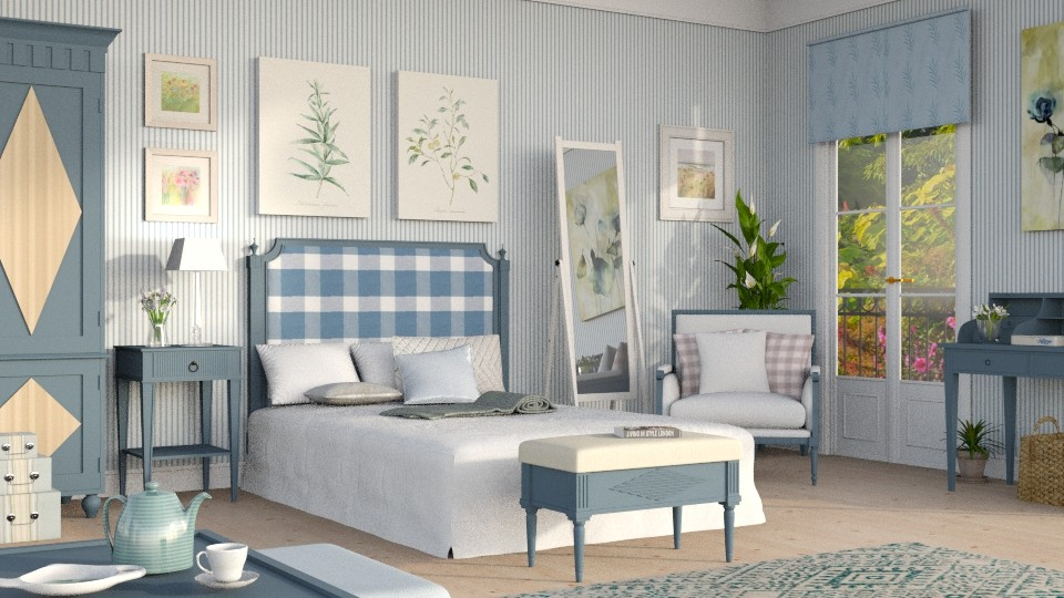 A Gustavian touch - Bedroom - by Sally Simpson