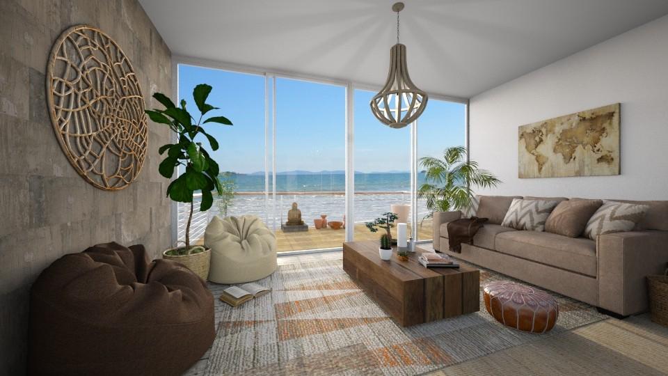 bohemian beach house - Living room - by jjannnii