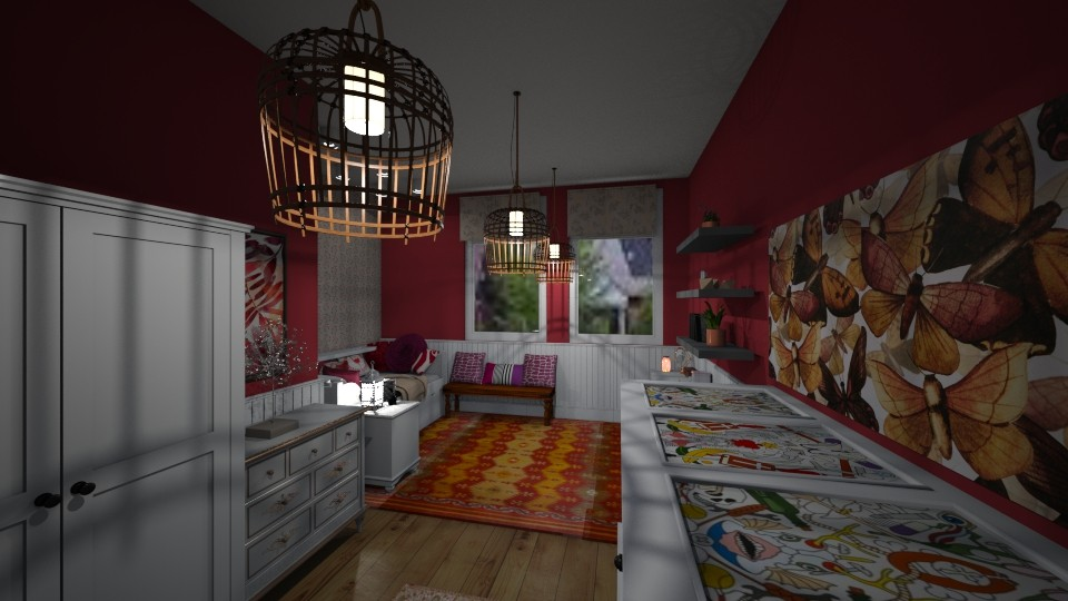 red room - by Lolo Loves Interior Design